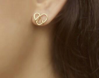 Tie The Knot Earrings, Love Knot Earrings, Gold Knot Earrings, Infinity Knot Earrings, Bridesmaids Gift,