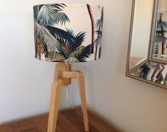 Palm Tree Lampshade Coastal Decor Lamp Shade Beach Decor Tropical Decor Barrel Lampshade.