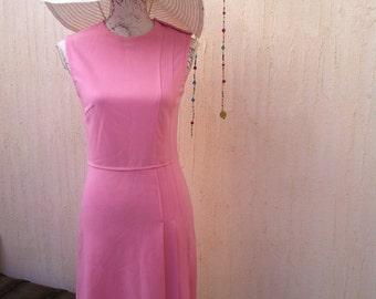 Vintage dress-60s dress-pink vintage dress-vintage gown-boho vintage-60s 70s party-pink vintage