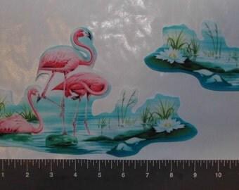 Flamingo Iron on Fabric Appliques Pre-Cut