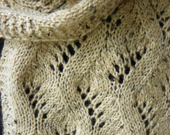 "Pattern to Knit Lace Scarf ""Traveling Along""  DK weight yarn PDF"
