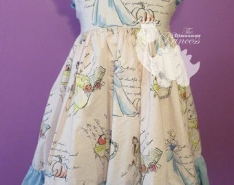 Classic style Princess Dress with ruffled sleeves. You choose the fabric!