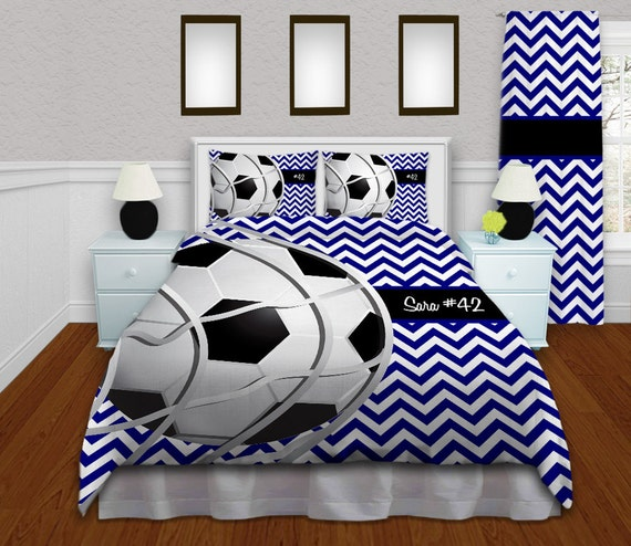 Soccer Microsuede or Microfleece Duvet Cover Unique Bedding