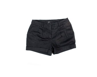 womens black cotton shorts size 2