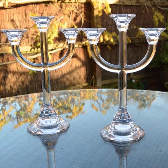 Villeroy and boch crystal candelabra tall elegant by for Villeroy boch crystal