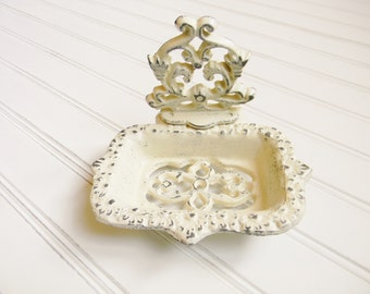 Cast Iron Soap Dish,Vintage Style Soap Dish,Bathroom Soap Dish,Business Card Holder,Shabby Cottage,French Country, Cast Iron Bathroom Decor