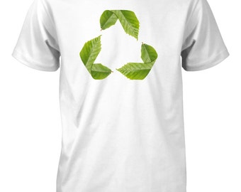Recycle Symbol Go Green T-Shirt for Men Earth Day Environment Nature Tee
