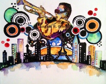 New Jazz City by Angela R. Green