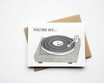 Letterpress Record Player | Side A Card