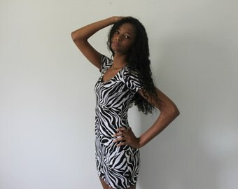 Animal Print/ Zebra Print Dress (ON SALE)
