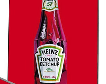 Tomato Ketchup wall art. Choose either a stunning canvas or amazing float frame