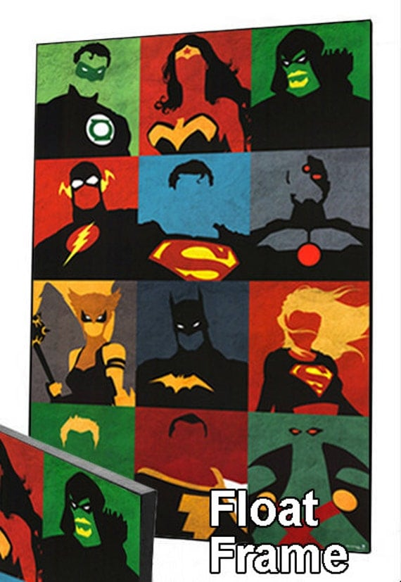 Dc Comics Wall Art dc comics justice league pop art wall art. choose either a