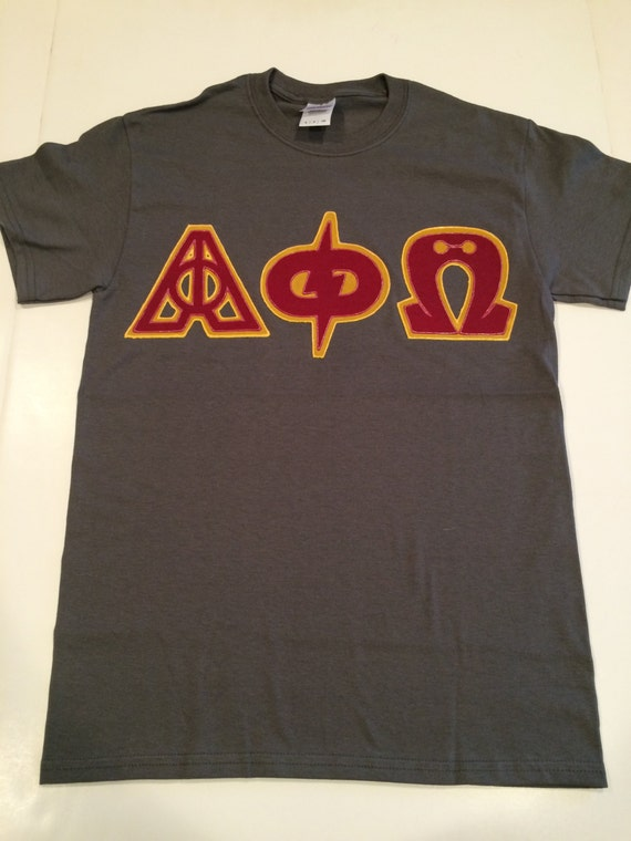 greek letters shirts 2 custom letter shirt harry potter alpha phi omega 22053 | il 570xN.746899334 le6o