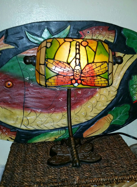 Bankers Tiffany Style Dragonfly Desk Lamp – Dragonfly Desk Lamp