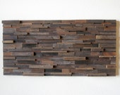 """Large Reclaimed Barn Wood Abstract Wall Art, Contemporary Simplicity, Rustic Elegance -- 48"""" Wide"""