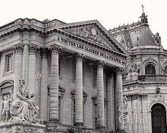 Versailles Palace, Fine Art Photography, Black and White, Paris Decor, Paris Photo, Versailles Photo, Home Decor, Wall Art, Canvas Print