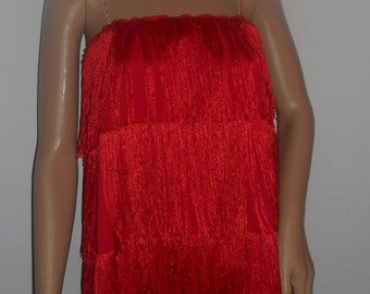 New adult large / plus size red 1920's flapper costume dress costumes