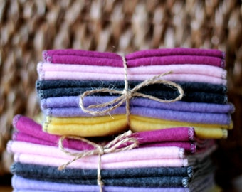 Reusable Fleece Cloth Diaper Liner Inserts : serged edging 8, 16 or 24 Count