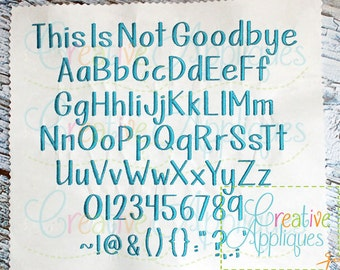 This Is Not Goodbye Embroidery Font 3 Sizes Alphabet  Digital Machine Embroidery, monogram font, embroidery alphabet, monogram alphabet