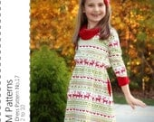 Girl's Dress Pattern No.17 - pdf sewing pattern - Sizes 2 to 10