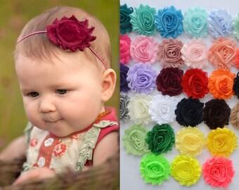 PICK ANY 15 baby headbands, shabby chic headbands, newborn headband, infant headbands, toddler headband, baby hair bow, baby accessories