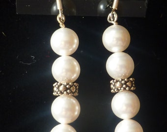 BEEutiful Vintage Inspired Swarovski Pearl Wedding Earrings