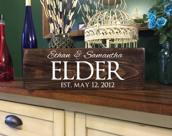Personalized Family Name Sign - Last Name Sign - Rustic Wood