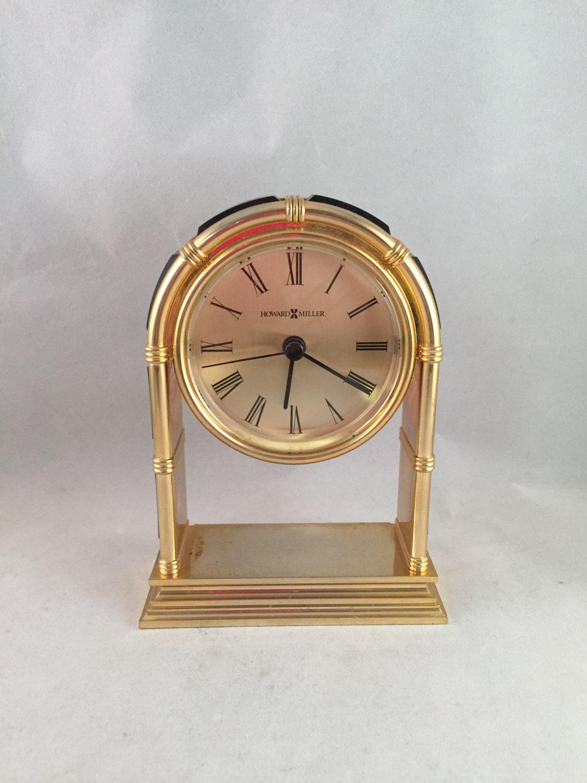 Vintage Howard Miller Desk Clock