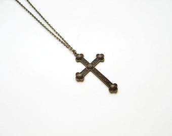 Items similar to Celtic Cross Necklace for Men, Extra ...