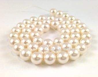 6mm WHITE 5810 Swarovski Crystal Round Pearls 50pcs or 100pcs