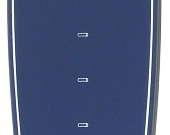 Navy Blue Surfboard-shaped growth chart