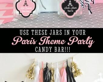 Paris Theme Birthday Party Favors - Parisian Baby Shower - Parisian Birthday Party Paris Theme Wedding Favors (EB3023B) - set of 24| JARS