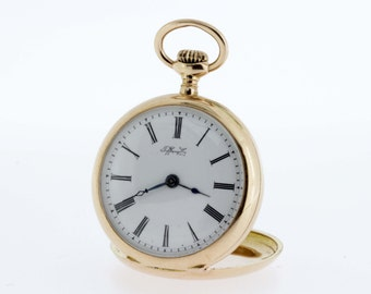 Tiffany and Co Ladies Pocket Watch 18K Gold