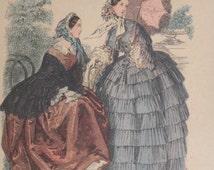 Popular items for leroy imp paris on etsy for Miroir des modes prints