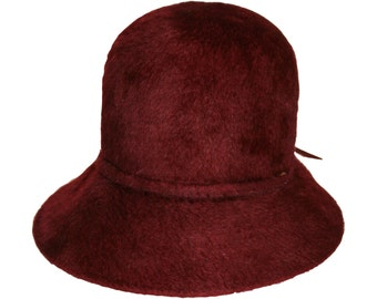 Vintage Lembert oxblood cloche hat