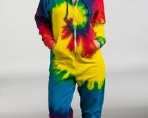 Adults Rainbow Tie Die Onesie