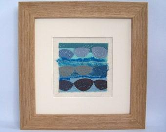 home decor, abstract coastal art, nautical wall art decor, seascape, coastal wall art, gift for her, Boats in the bay