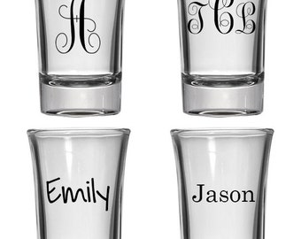 1.5oz Shot Glass | Personalized Monogram