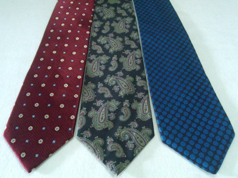 renoma jim thompson neckties dots floral paisley