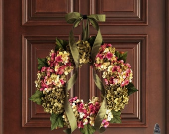 spring front door wreathsSummer Wreaths Hydrangea Wreath Front Door Wreaths