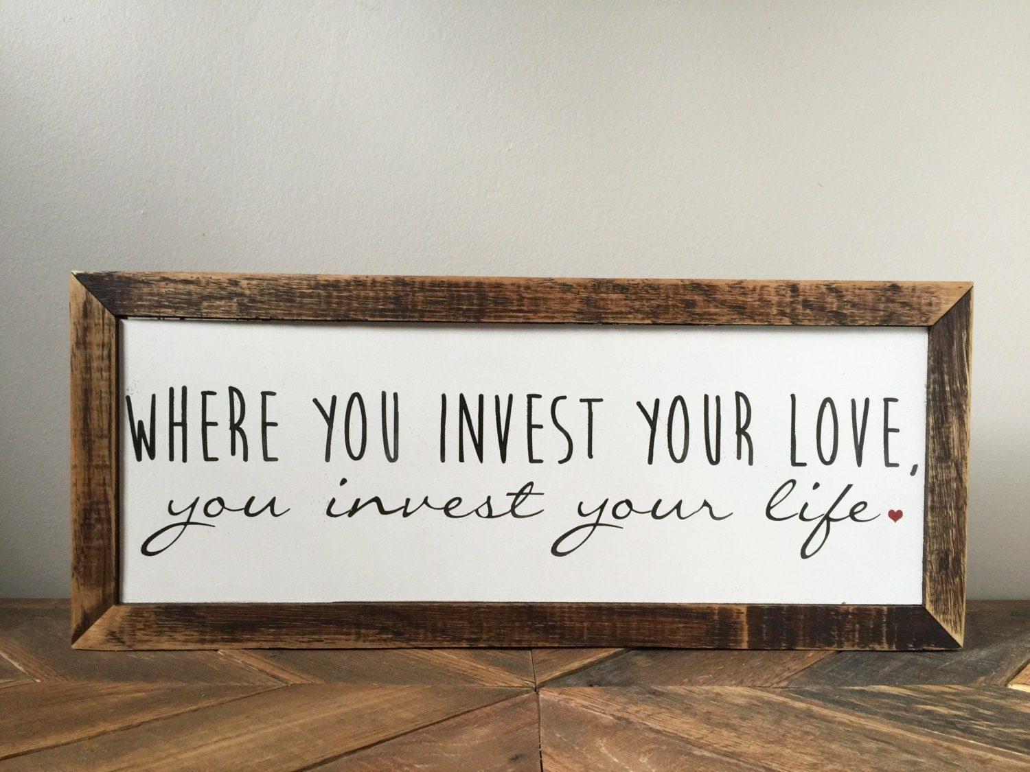 Mumford and Sons Wall Decor Where You Invest Your Love You