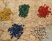 Set of Push Pins for Travel Map - World Map - USA Map