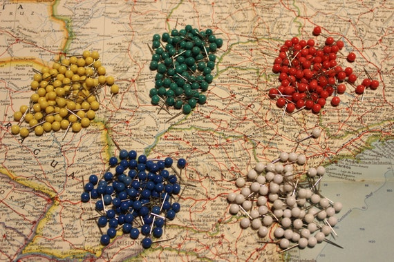 Set Of Push Pins For Travel Map World Map USA Map - Usa travel map with pins
