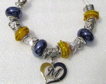 830 - Brewers Heart Bracelet