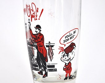 Vintage Glass, Bottoms Up Drinking Glass