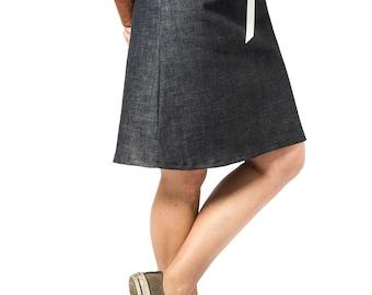 Jean skirt | Etsy