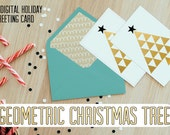 Geometric Christmas Tree Holiday Card