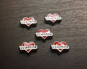 Valentine Heart Floating Charm for Floating Lockets-Gift Idea