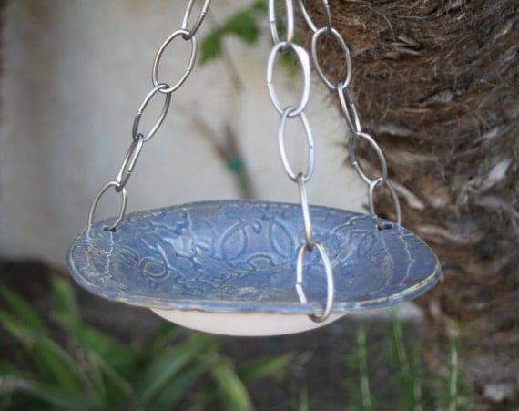 Hanging Bird Bath Hanging Bird Feeder Ceramic Bird Bath Garden