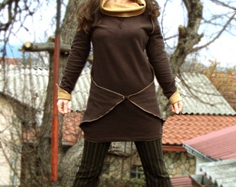 Fall Mood - Steampunk Tunic, Sweater, Sweatshirt, Long Sleeves, Blouse, Top, Boho